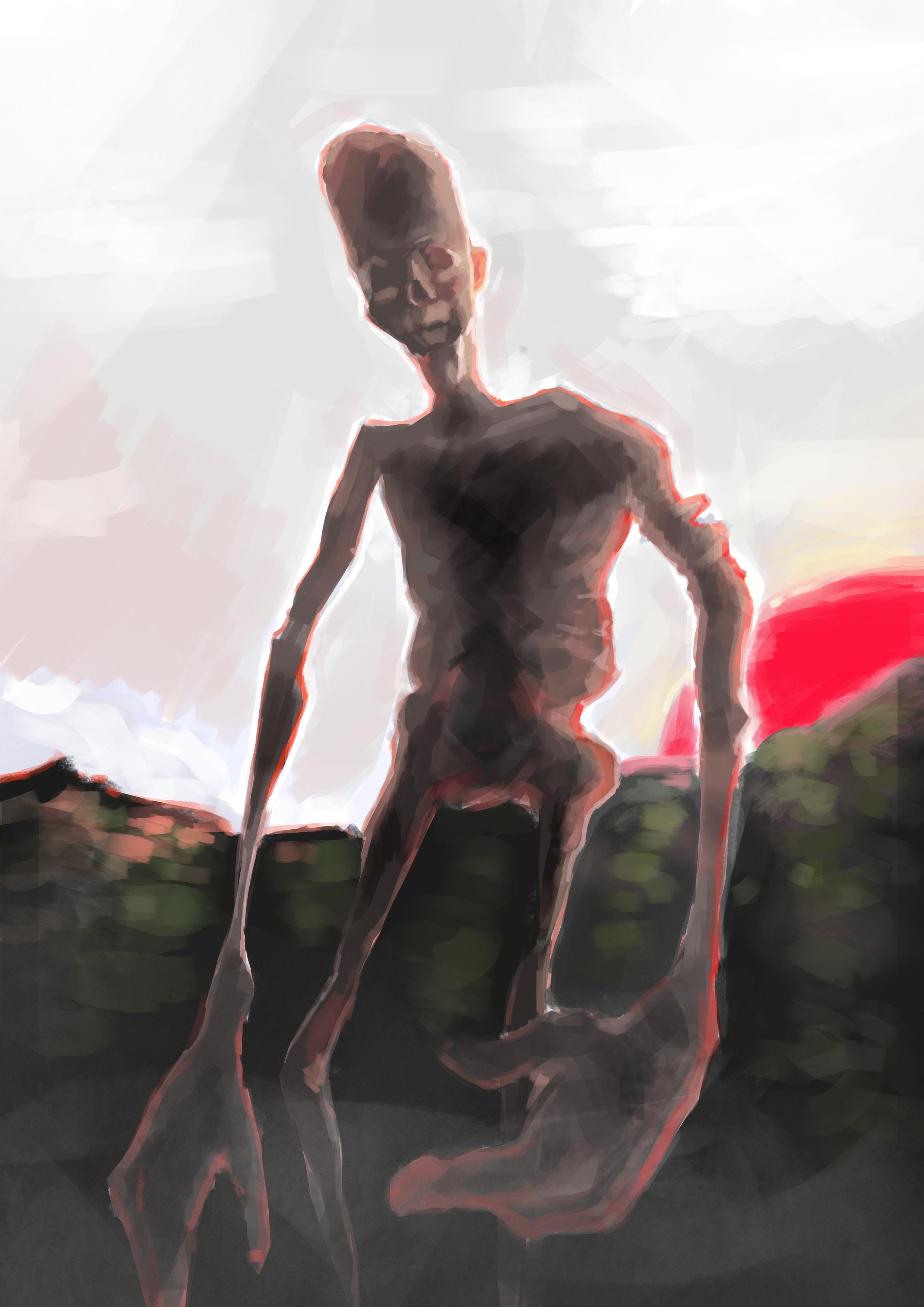 He waits
