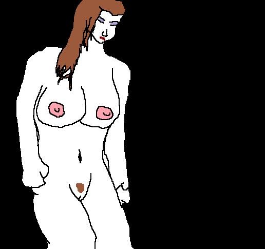 Naked Vampire From Paint