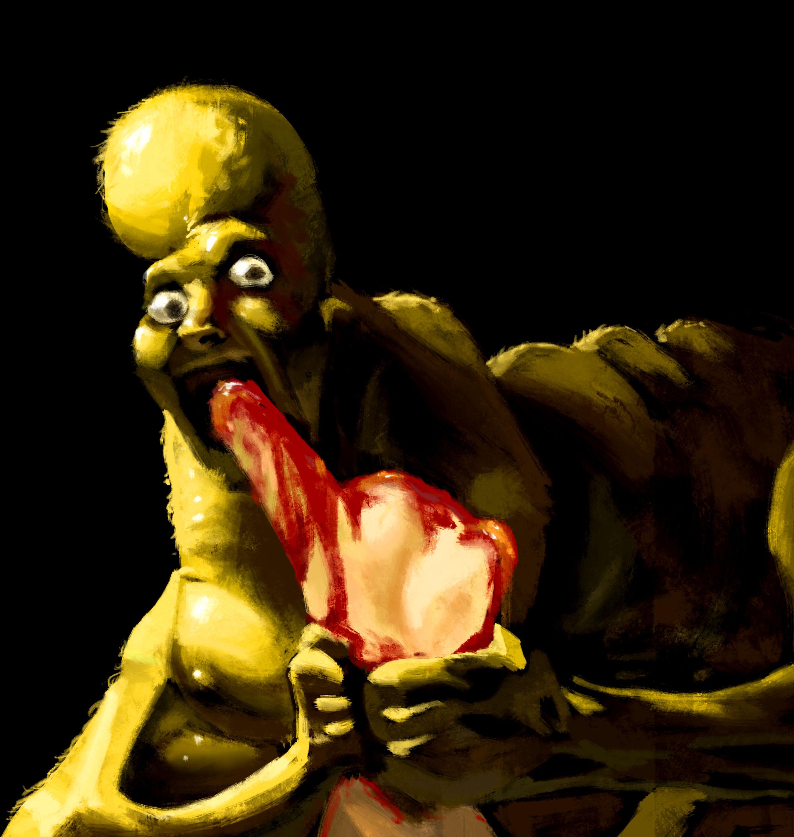 Homer eating his son