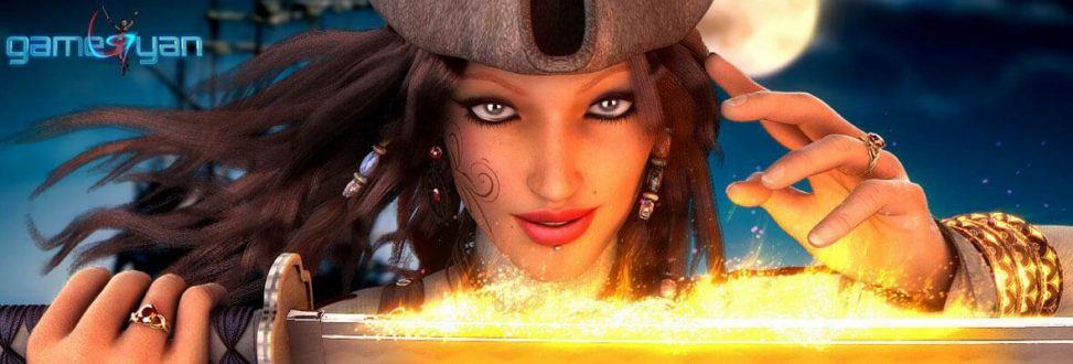 Angela Fantasy Pirates Character Model France, Paris