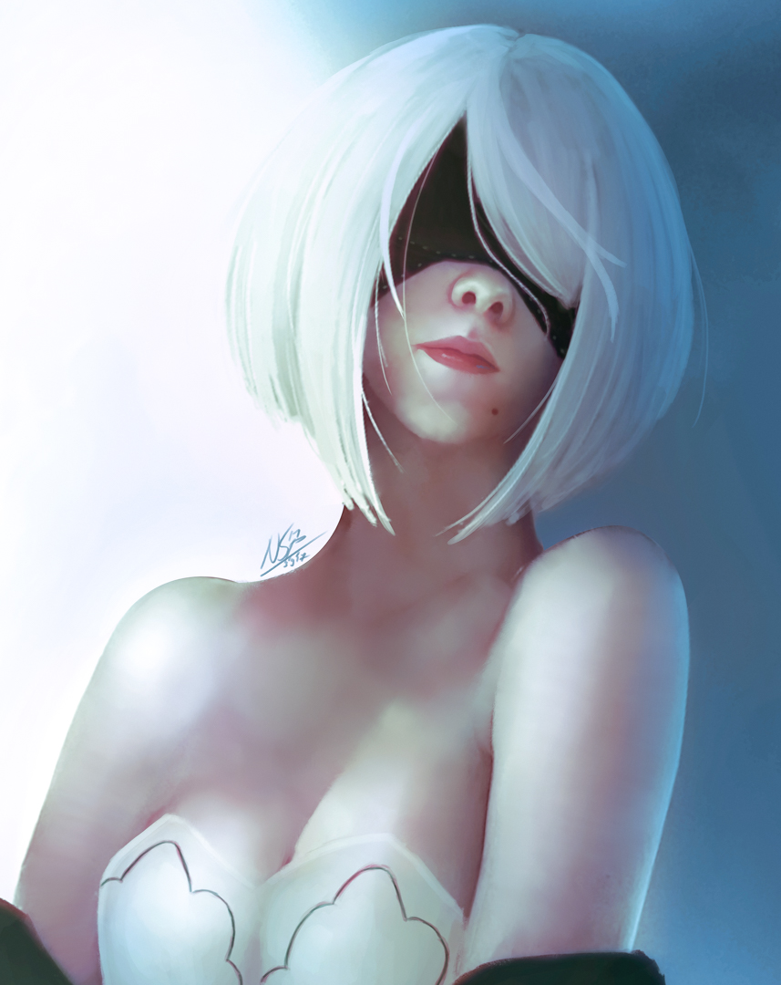 NieR Automata 2B - Painting- Colored