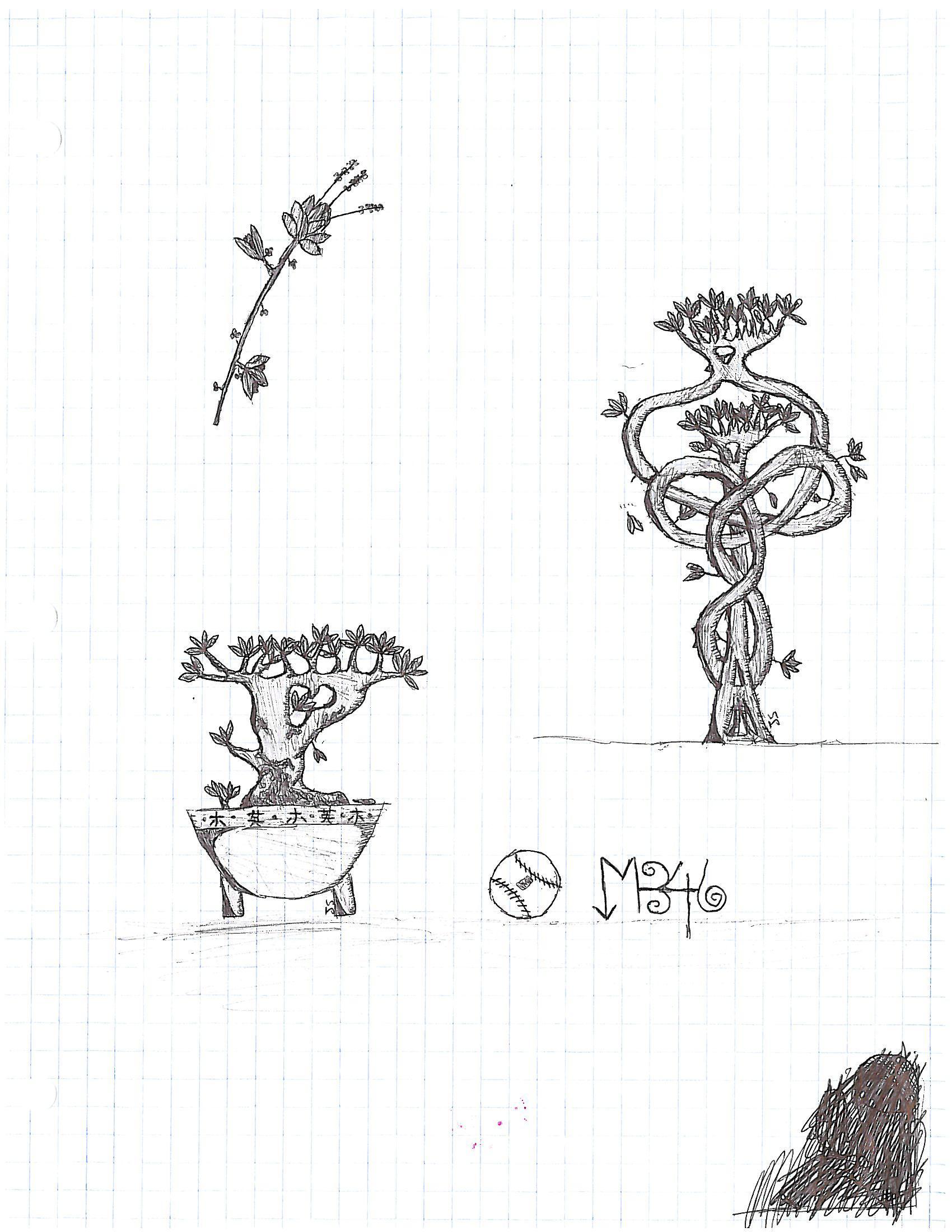 Grid Nature Doodles
