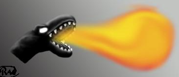 Fire-breathing reptile