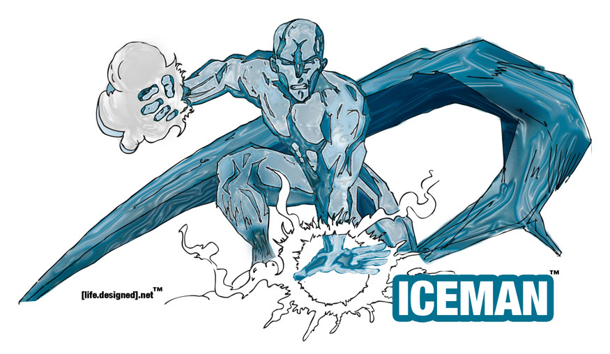 Ice man Illustration