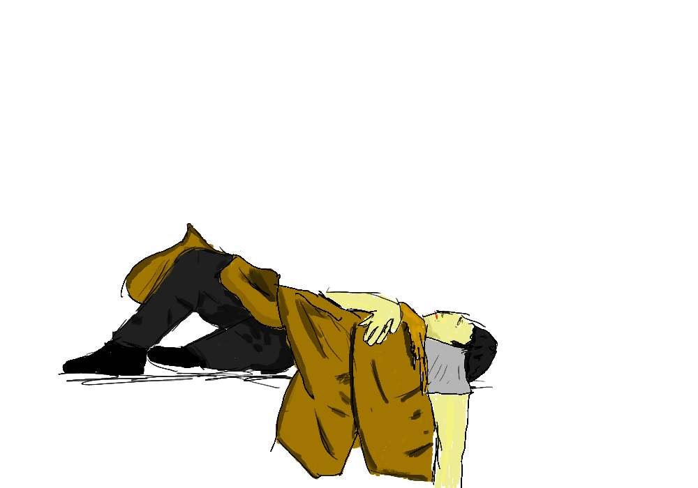 Lying down man