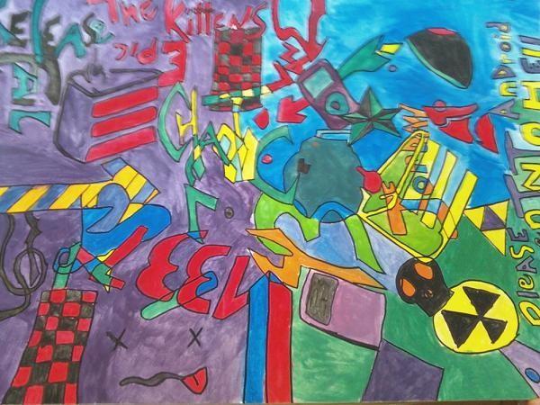 Trippy Geek Painting.