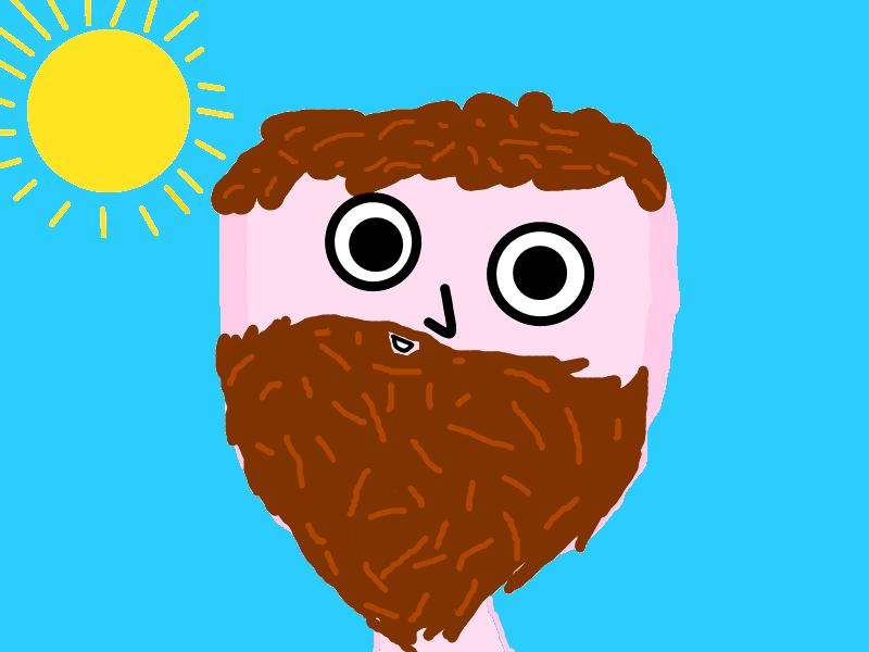Crazy dude with a beard