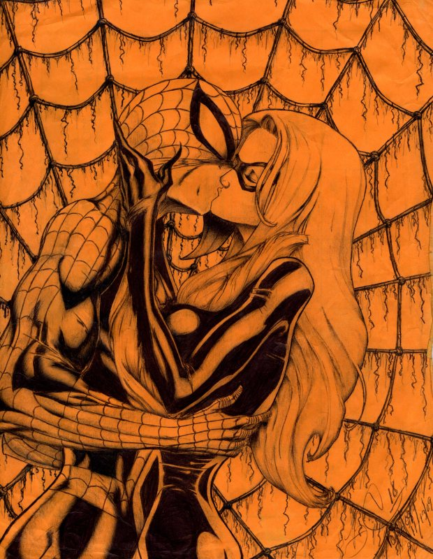Spider-Man kiss Black Cat