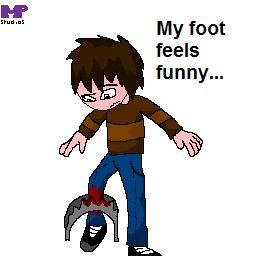 My foot feels funny...