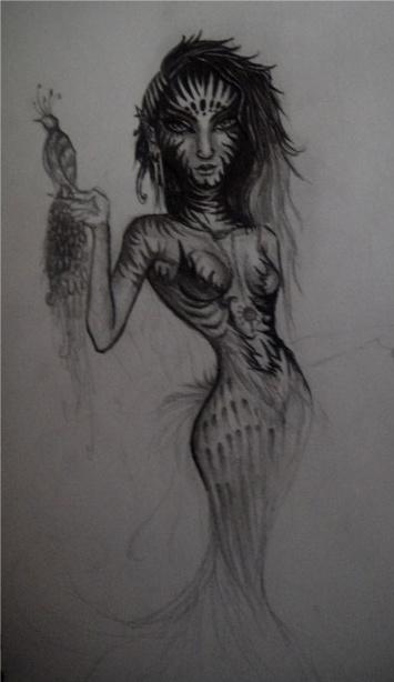 Trippy Alien Goddess WIP