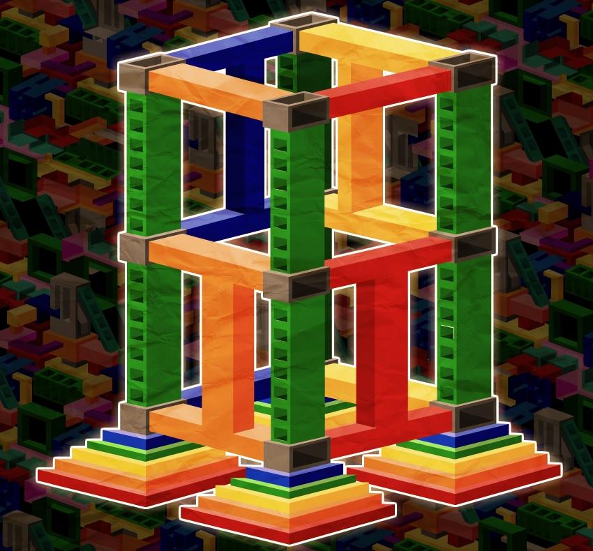 Pyramid Rocket Tower Cube