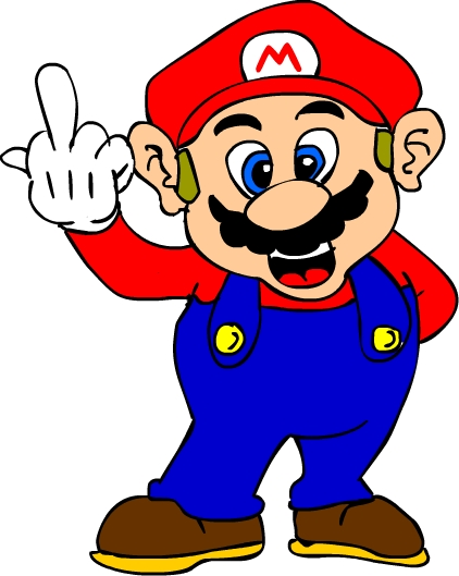 mario flips you the bird