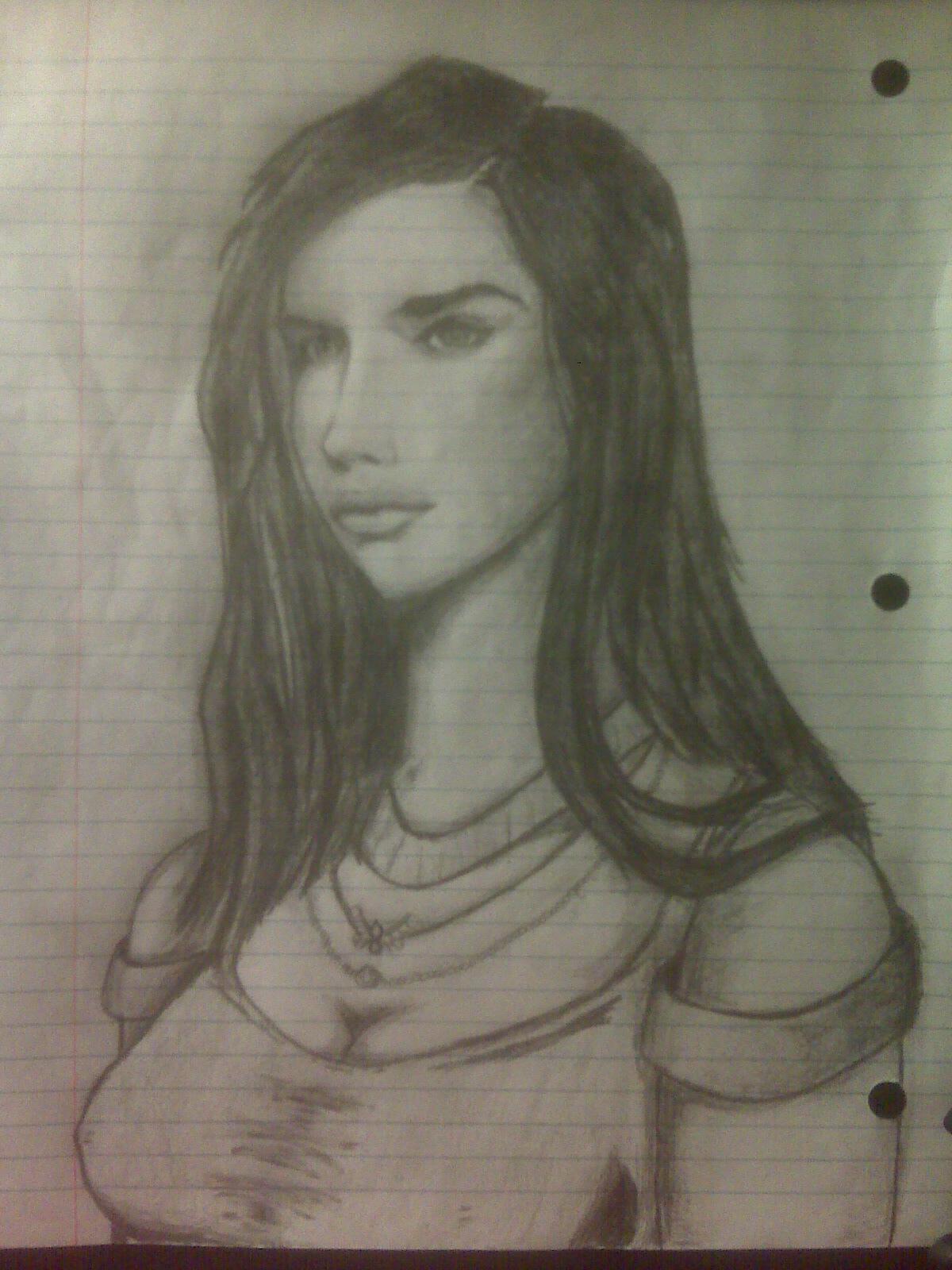 Veronika upper body pencil art