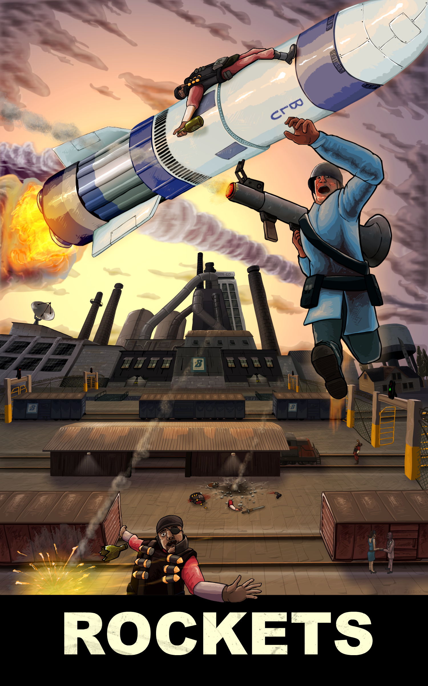 TF2 Soldier - ROCKETS