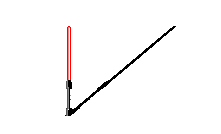 Lightsaber with shadow