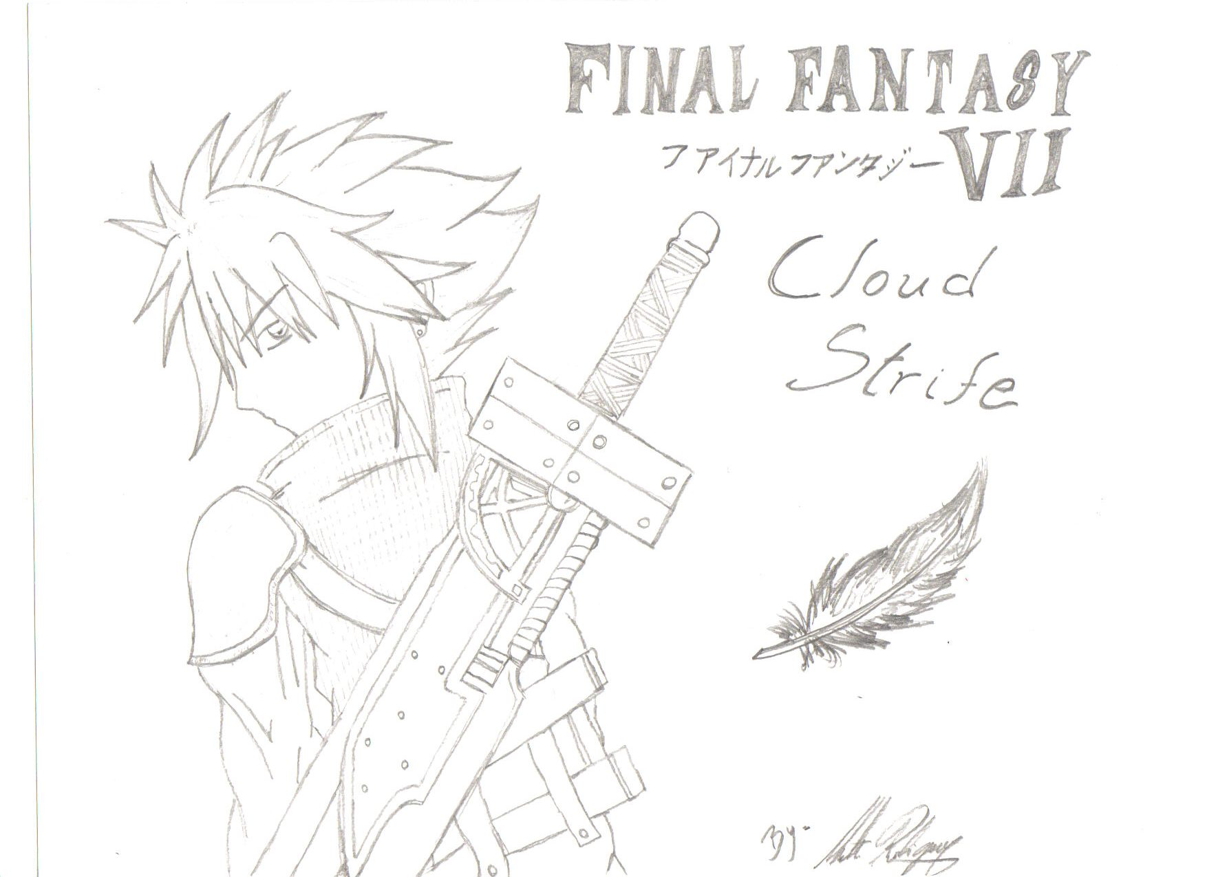 Cloud Strife, by Mat