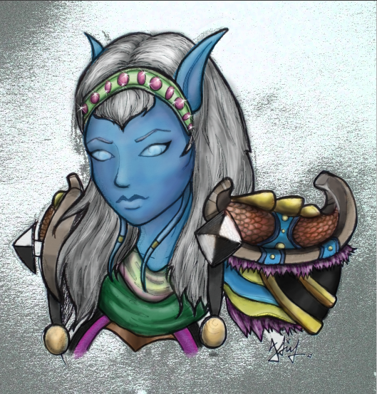 Draenei hunter coloured