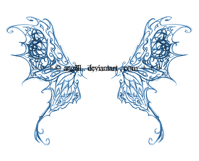 butterfly wings tattoo concept