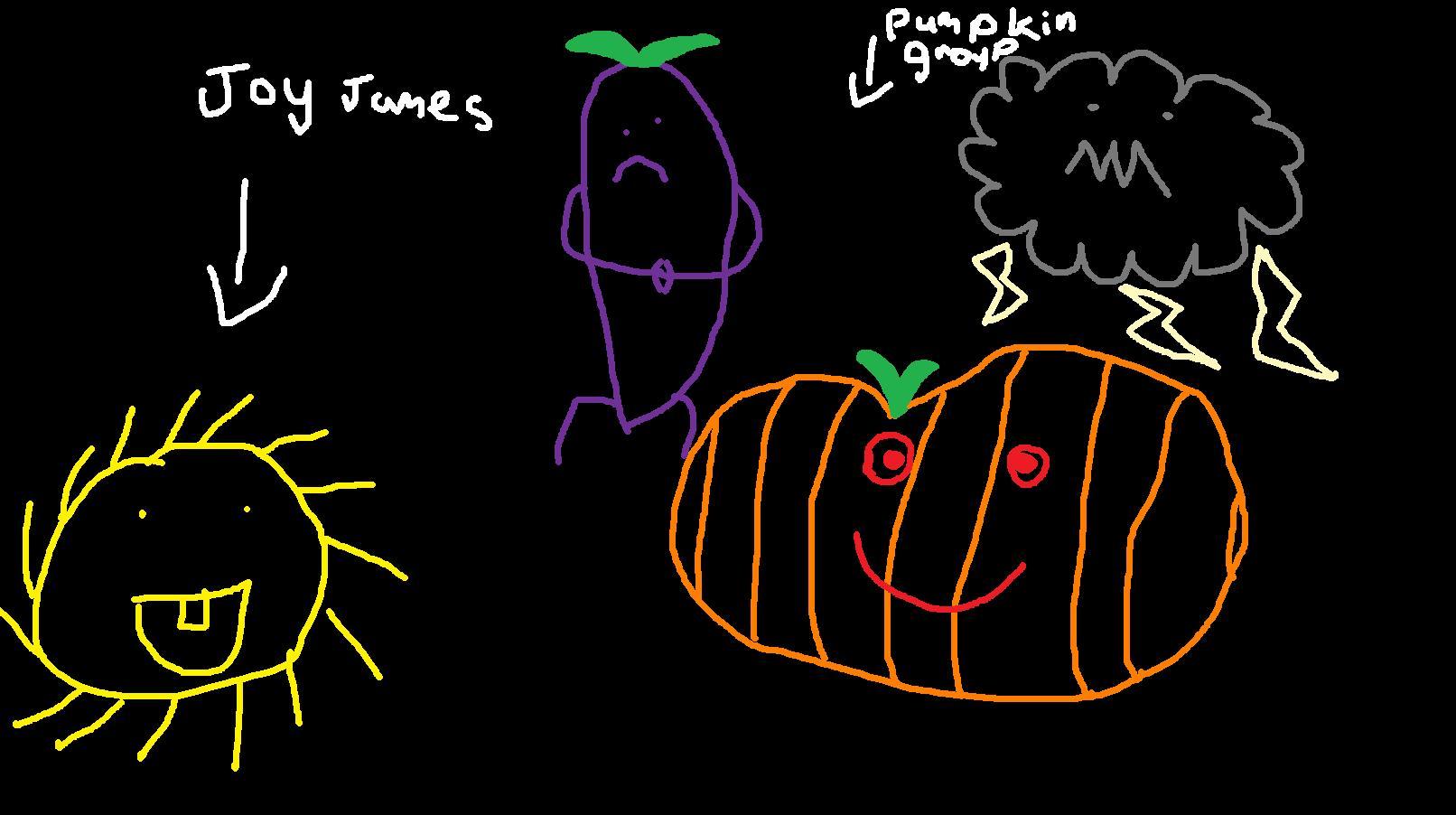 Joy James and pumpkin group
