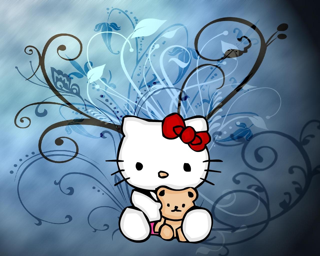 Artistic Kitty Wallpaper