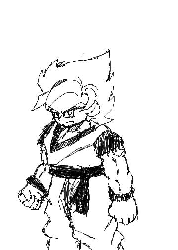 Goku in B&W