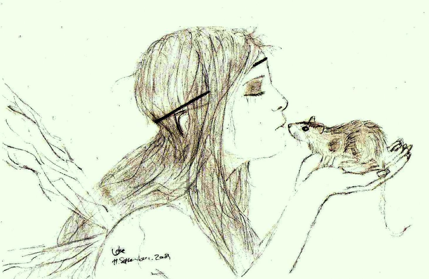Fairy with rat