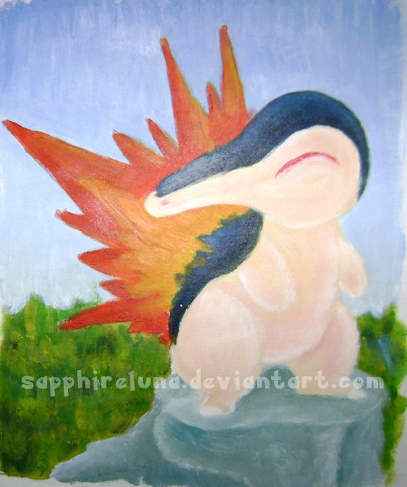 Cyndaquil Painting