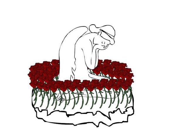 An Angel Cries Upon A Rose Bed