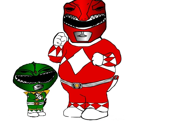 Stewie and Peter Power Rangers