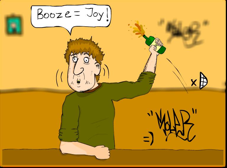 Booze equals Joy