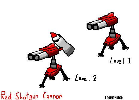 Red Shotgun Cannon