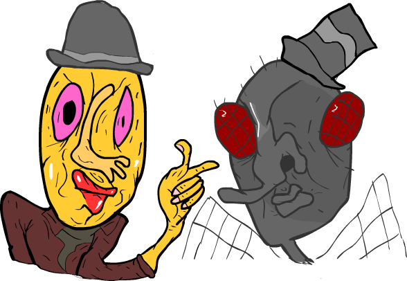 mr fly and mr yellow face