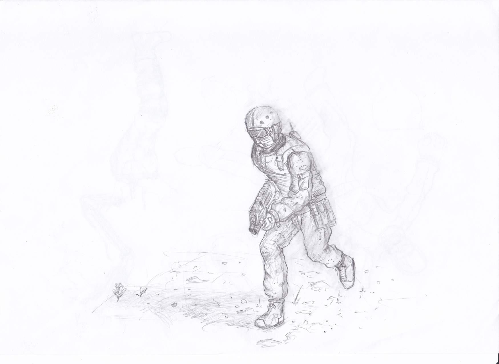 running soldier