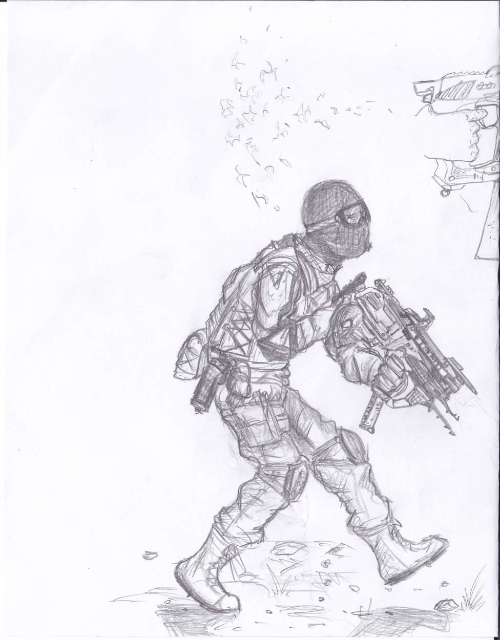 Intruder - soldier concept