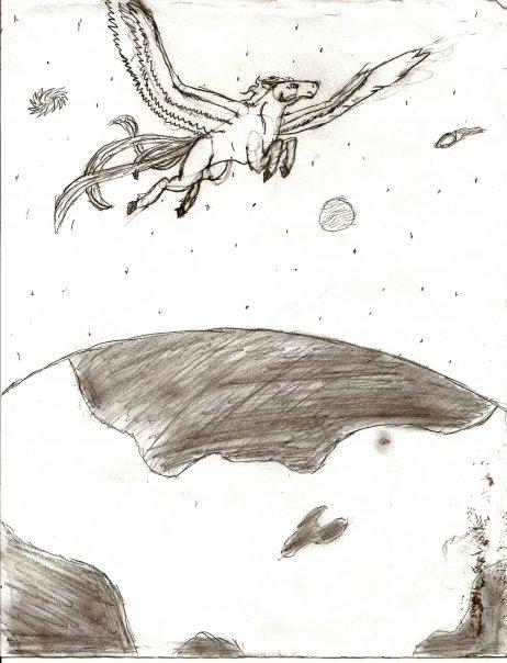 pegasus flying high
