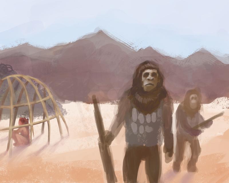 monkeys with guns