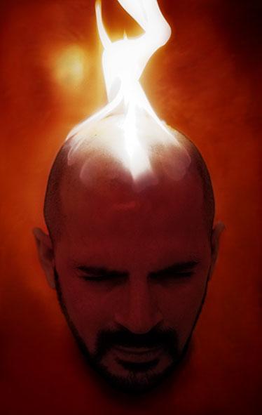 Fire picture, self portrait...
