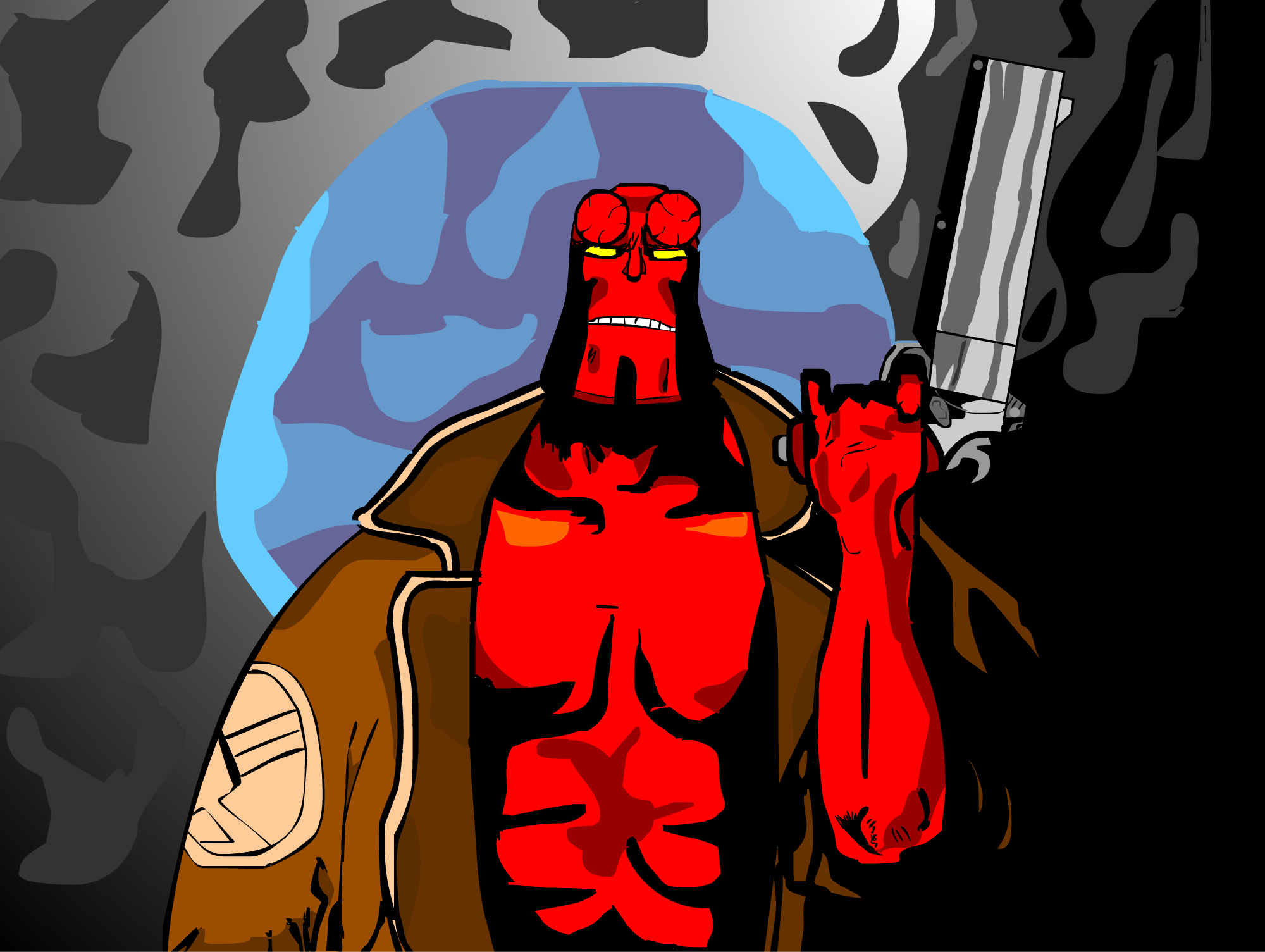 Hellboy in the Moonlight