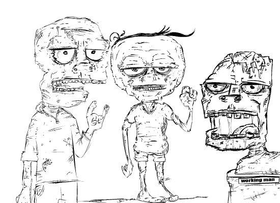 Three sick fucks