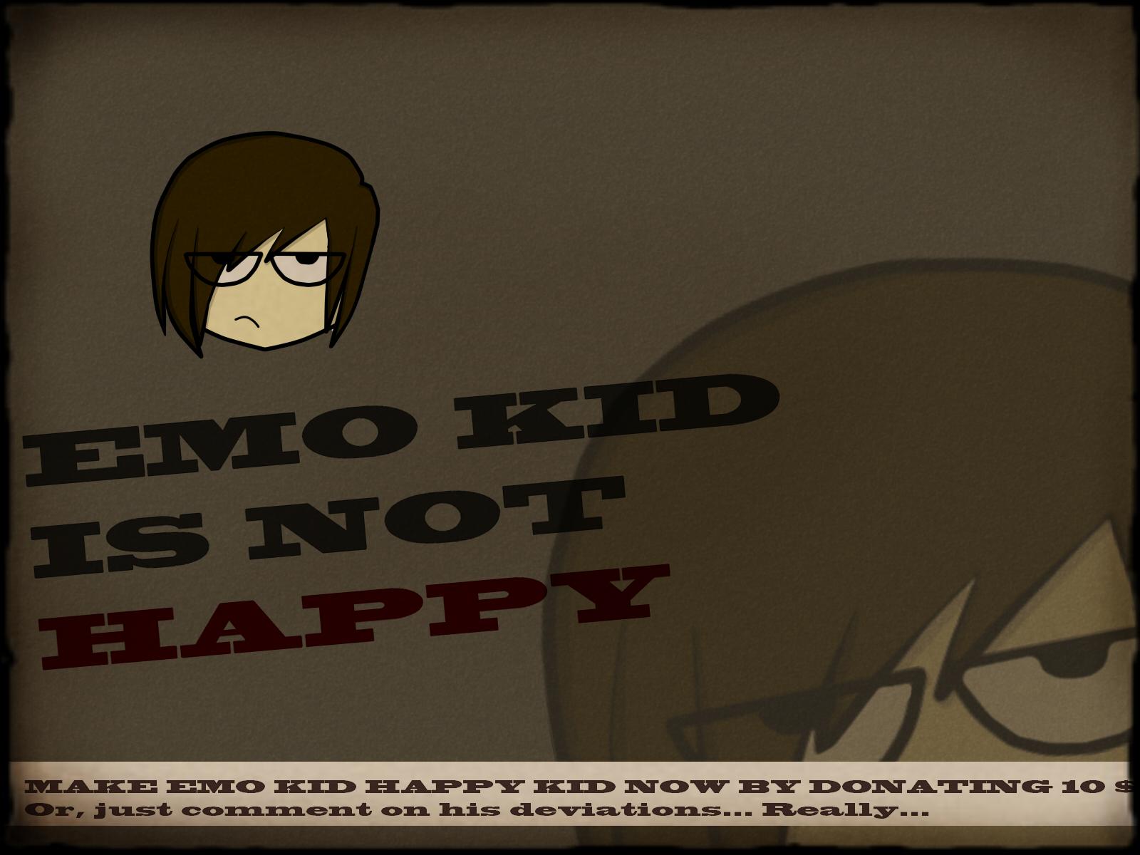 Emo kid is not happy!