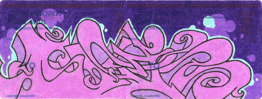 Purple Wildstyle Sticker