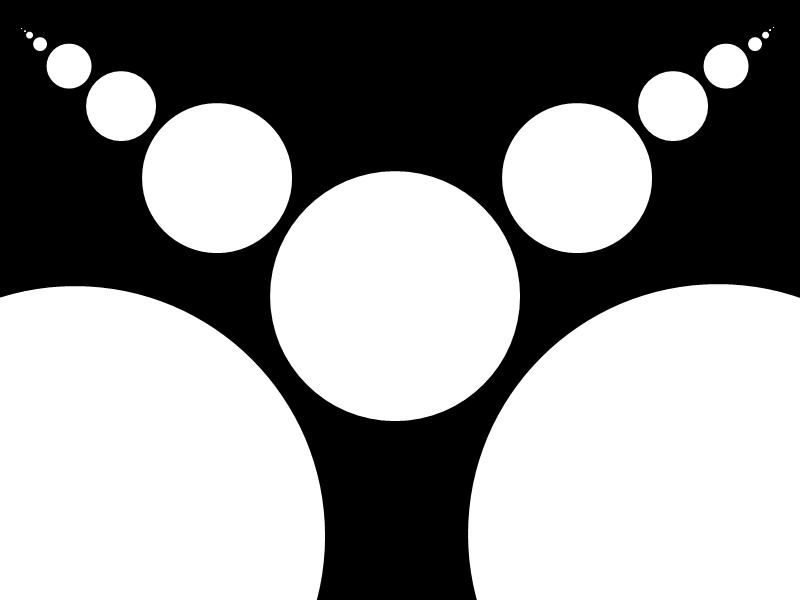black n' white circles