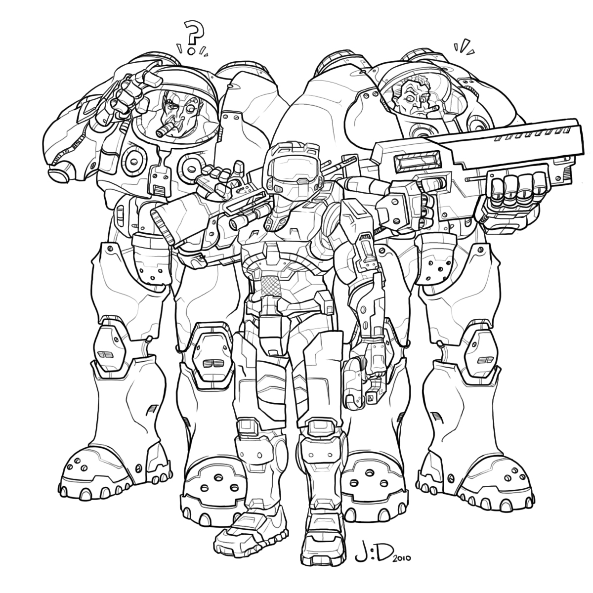 The REAL space marine.
