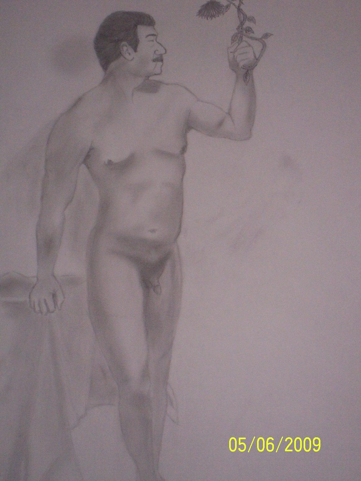 Nude male model
