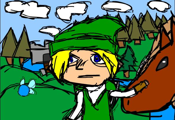 Link In Hyrule Fields