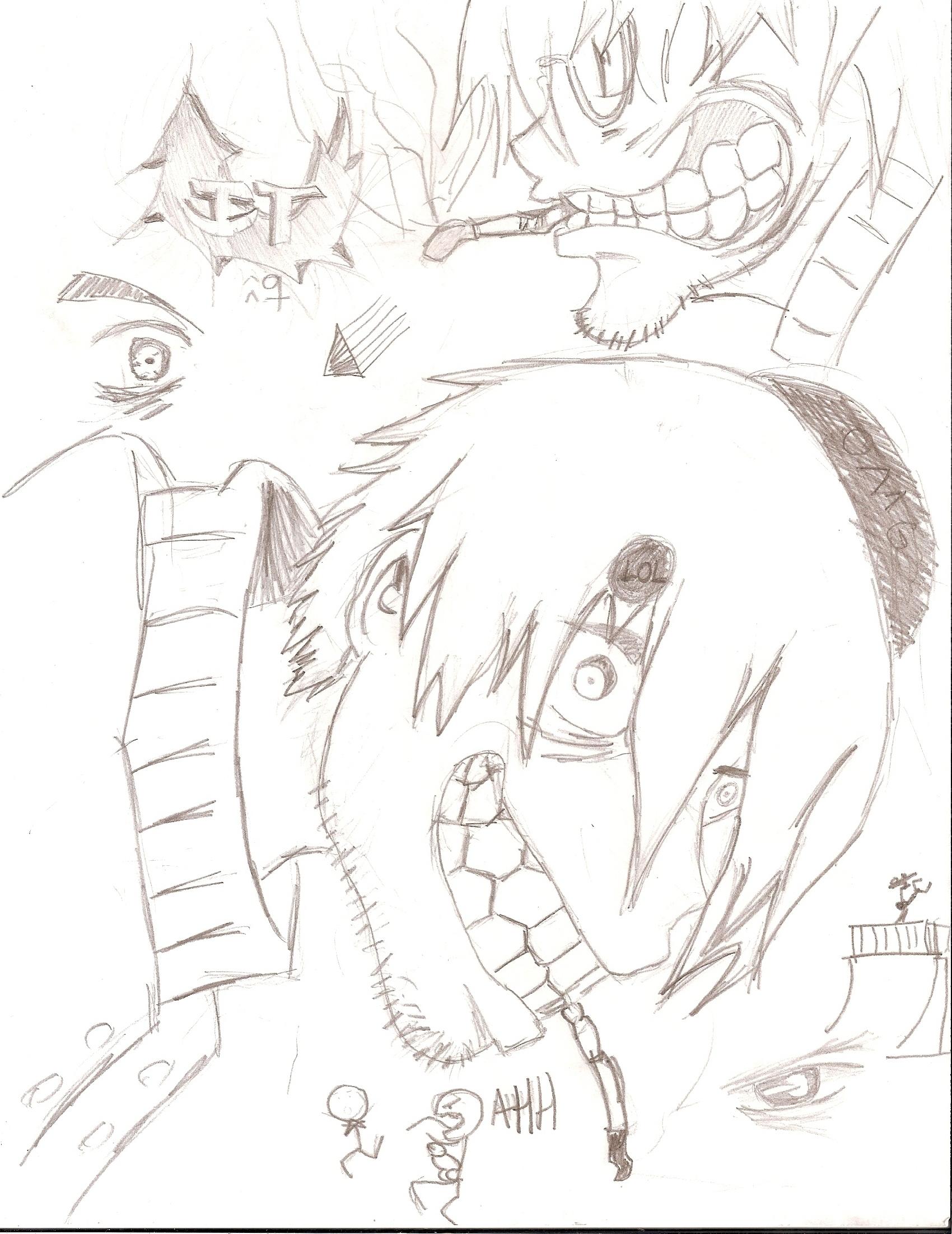 Professor Stein sketches