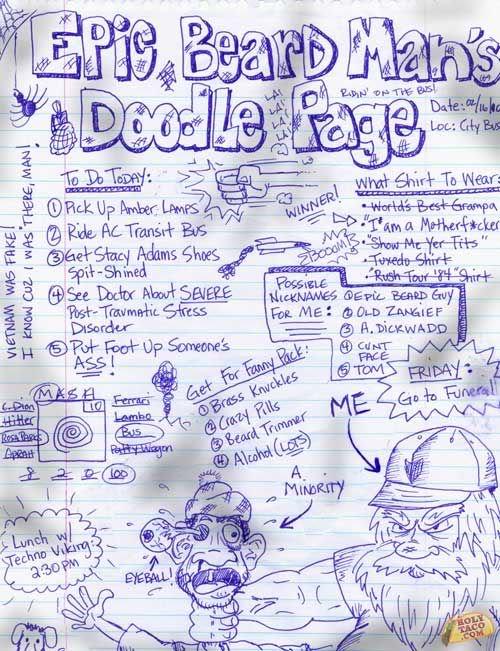 Epic beard mans doodle page