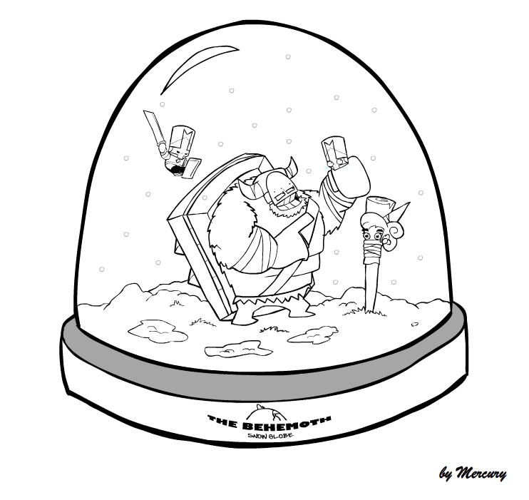 Castle Crashers SnowGlobe