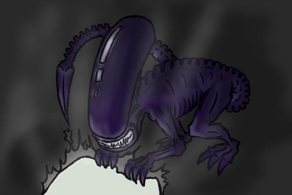 Xenomorph on the run