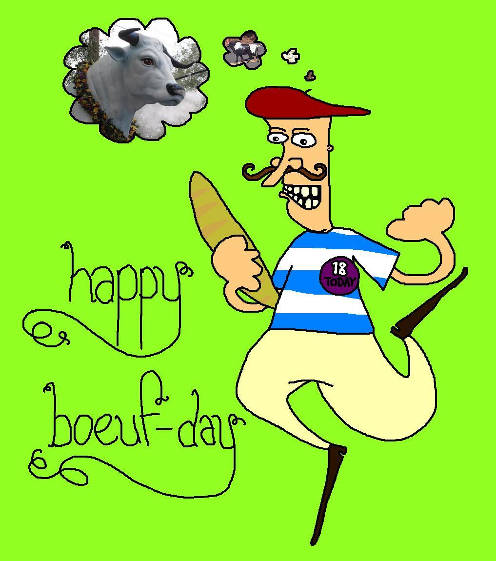 Happy boeuf day